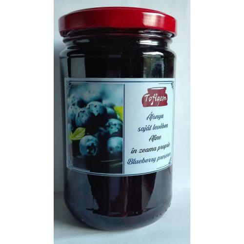 Kézműves székely cukormentes befőtt saját levében - Fekete áfonya 300 g