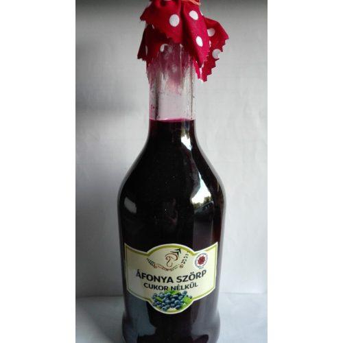 Kézműves székely cukormentes ital - Fekete áfonya 500 ml üveges