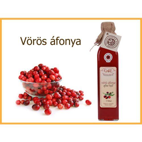 erdélyi vörös áfonya szörp üveges