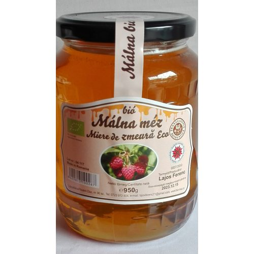 Erdélyi Málna méz 950 gr LF